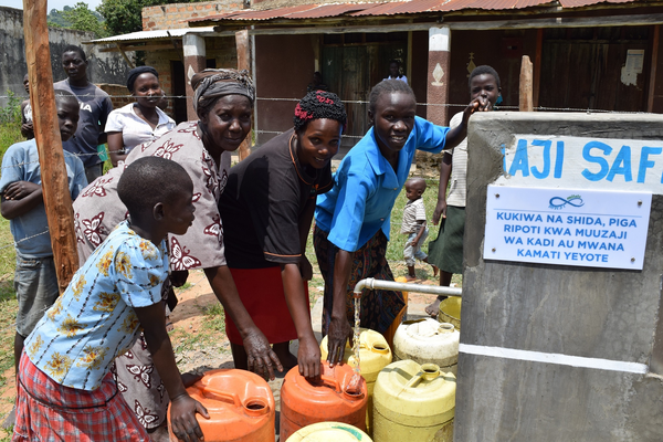 Official use of water point by community members
